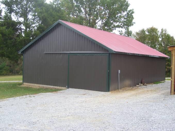 Barn in Burnished Slate Galvalume via ACB Metals